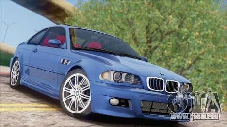 BMW M3 E46 2002 pour GTA San Andreas