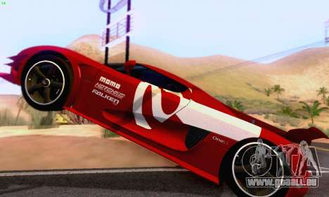 Koenigsegg One 2014 pour GTA San Andreas vue intérieure