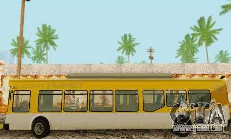 Autobus de transport en commun из GTA 5 pour GTA San Andreas vue intérieure