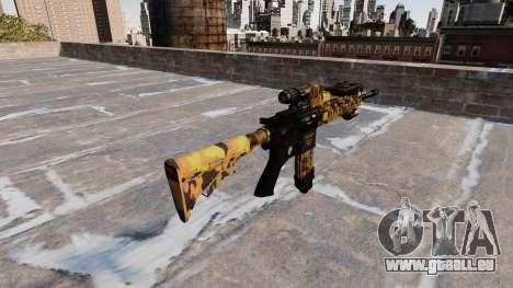 Fusil automatique Colt M4A1 Automne Camos pour GTA 4 secondes d'écran