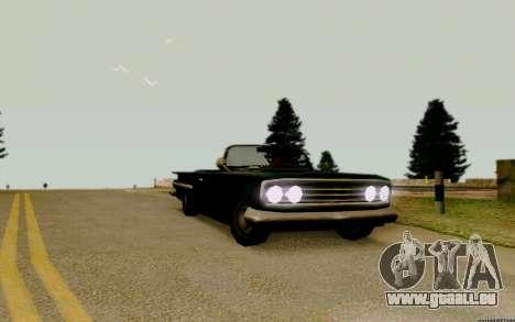 Voodoo Convertible (version avec des phares) pour GTA San Andreas vue de droite