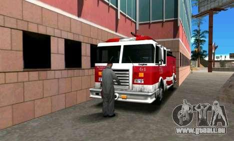 Réaliste caserne de pompiers à Los Santos pour GTA San Andreas troisième écran