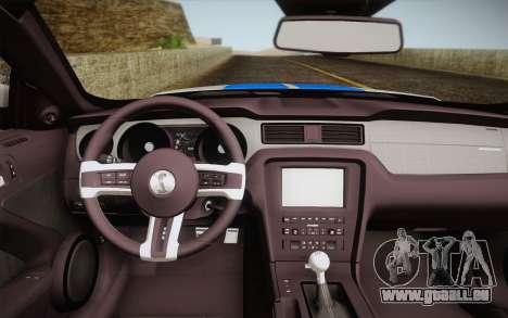 Ford Shelby GT500 2013 pour GTA San Andreas sur la vue arrière gauche