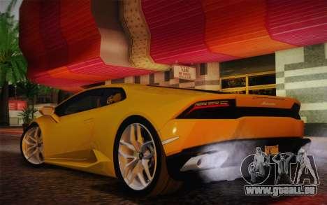 Lamborghini Huracan 2013 pour GTA San Andreas vue de droite