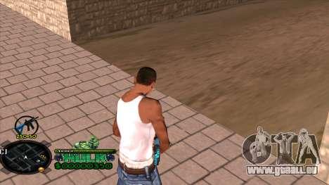 C-HUD Hulk pour GTA San Andreas troisième écran