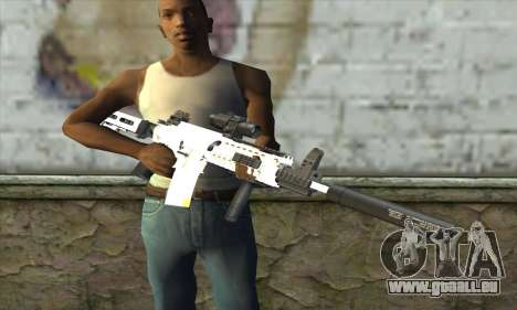 Golden M4A1 pour GTA San Andreas troisième écran
