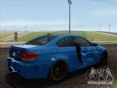 BMW M3 E92 2008 pour GTA San Andreas salon