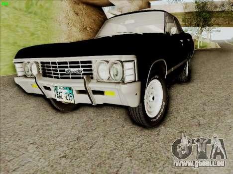Chevrolet Impala SS 1967 Hardtop Sedan 396 für GTA San Andreas linke Ansicht