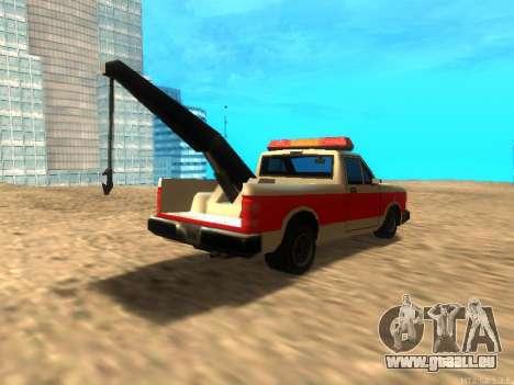 Nouvelle Remorque (Bobcat) pour GTA San Andreas vue de droite