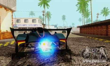 Pagani Zonda Type R Black pour GTA San Andreas vue arrière