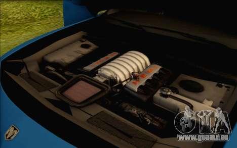 Dodge Charger SRT8 2006 pour GTA San Andreas vue de dessus