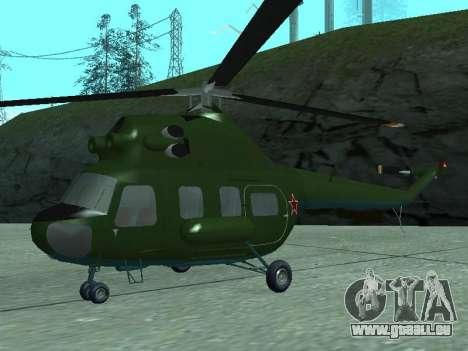 Mi 2 militärischen für GTA San Andreas linke Ansicht