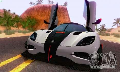 Koenigsegg One 2014 für GTA San Andreas linke Ansicht