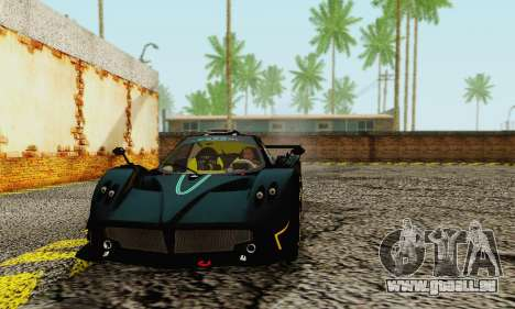 Pagani Zonda Type R Black pour GTA San Andreas laissé vue