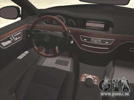 Mercedes-Benz S65 AMG pour GTA San Andreas salon