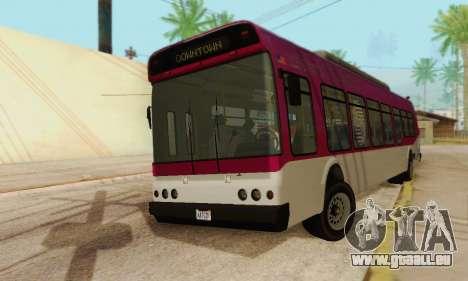 Autobus de transport en commun из GTA 5 pour GTA San Andreas sur la vue arrière gauche