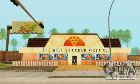 La nouvelle texture de pizzerias et les services pour GTA San Andreas neuvième écran
