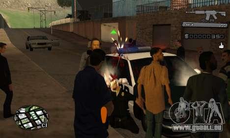 C-HUD Smoke pour GTA San Andreas quatrième écran
