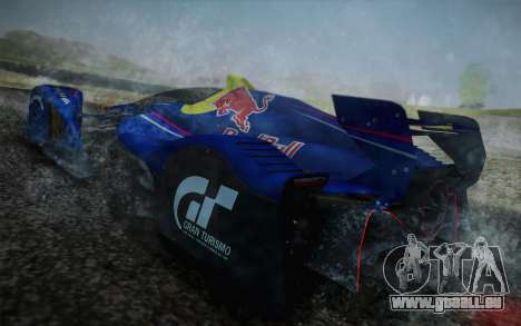 GT Red Bull X10 Sebastian Vettel pour GTA San Andreas vue de côté