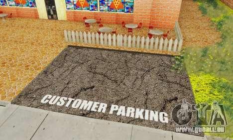La nouvelle texture de pizzerias et les services pour GTA San Andreas deuxième écran