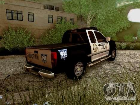 Chevrolet Colorado Sheriff pour GTA San Andreas vue de droite