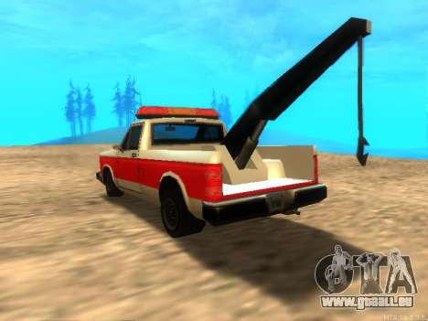 Neue Schlepptau (Bobcat) für GTA San Andreas zurück linke Ansicht