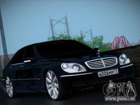 Mercedes-Benz S600 für GTA San Andreas linke Ansicht