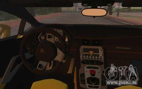 Lamborghini Huracan 2013 für GTA San Andreas Innenansicht