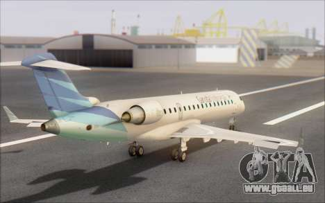 Garuda Indonesia Bombardier CRJ-700 für GTA San Andreas linke Ansicht