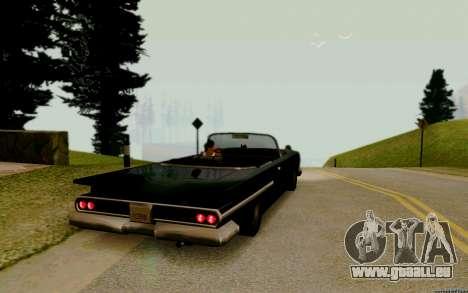 Voodoo Convertible (version avec des phares) pour GTA San Andreas sur la vue arrière gauche