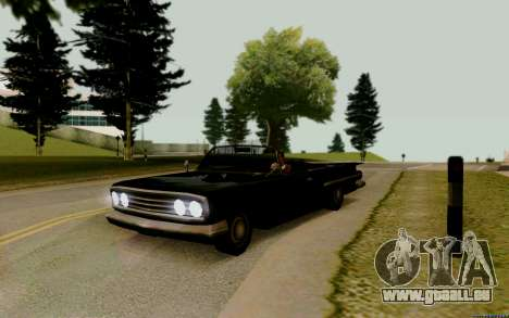 Voodoo Convertible (version avec des phares) pour GTA San Andreas