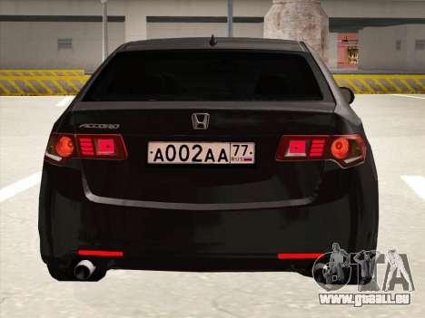 Honda Accord 2009 pour GTA San Andreas vue de côté