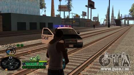 C-HUD Hulk pour GTA San Andreas cinquième écran