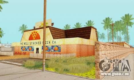 La nouvelle texture de pizzerias et les services pour GTA San Andreas