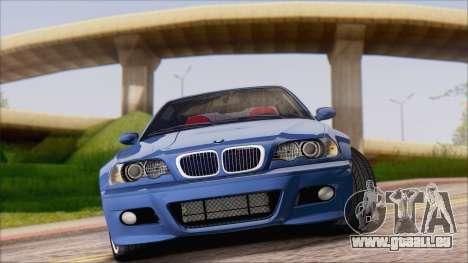 BMW M3 E46 2002 pour GTA San Andreas laissé vue