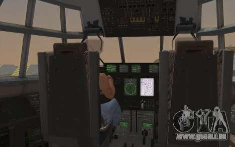 C-130H Hercules für GTA San Andreas Innenansicht