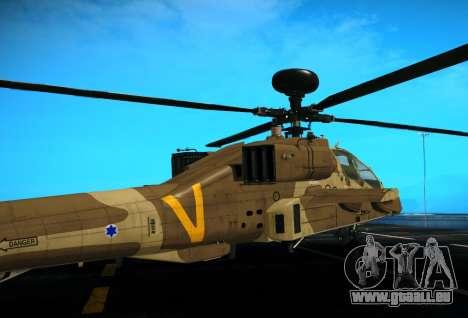 AH-64 Longbow Apache pour GTA San Andreas vue de droite