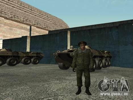 Le Lieutenant-Colonel de l'armée intérieure pour GTA San Andreas troisième écran