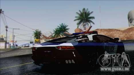 Lamborghini Aventador LP 700-4 Police pour GTA San Andreas laissé vue