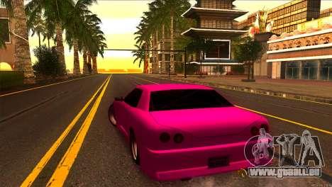 Elegy New Drifter v2.0 pour GTA San Andreas sur la vue arrière gauche