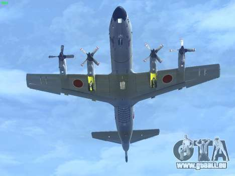 Lockheed P-3 Orion FAJ für GTA San Andreas zurück linke Ansicht