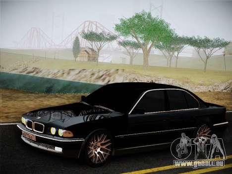 BMW 730d E38 1999 für GTA San Andreas zurück linke Ansicht