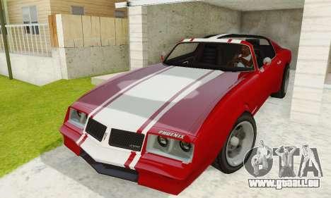 Imponte Phoenix из GTA 5 pour GTA San Andreas vue intérieure