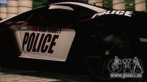 Lamborghini Aventador LP 700-4 Police pour GTA San Andreas vue arrière