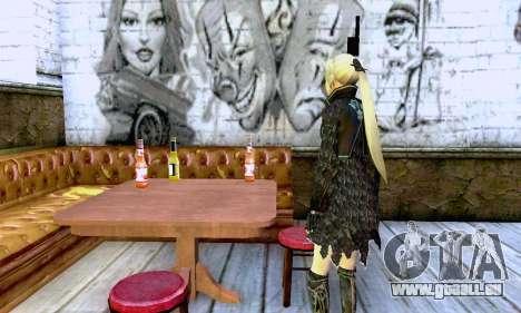 Das blonde Mädchen in schwarzer Kleidung für GTA San Andreas dritten Screenshot