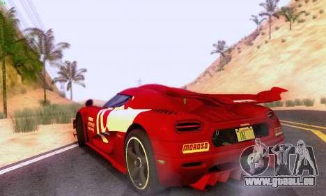 Koenigsegg One 2014 pour GTA San Andreas vue arrière