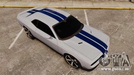 Dodge Challenger SRT8 2012 pour GTA 4 vue de dessus