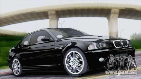 BMW M3 E46 2002 pour GTA San Andreas vue intérieure