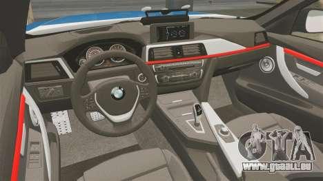 BMW F30 328i Finnish Police [ELS] pour GTA 4 est une vue de l'intérieur