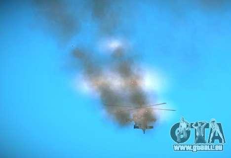 AH-64 Longbow Apache pour GTA San Andreas vue arrière